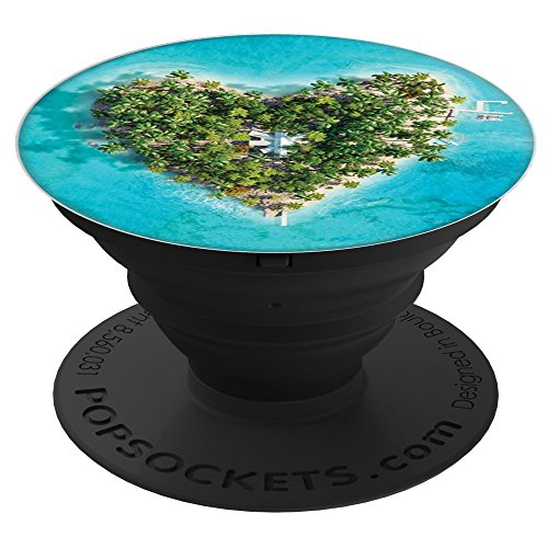 Rad Planet Heart Island Popsockets Stand For Smartphones And Tablets