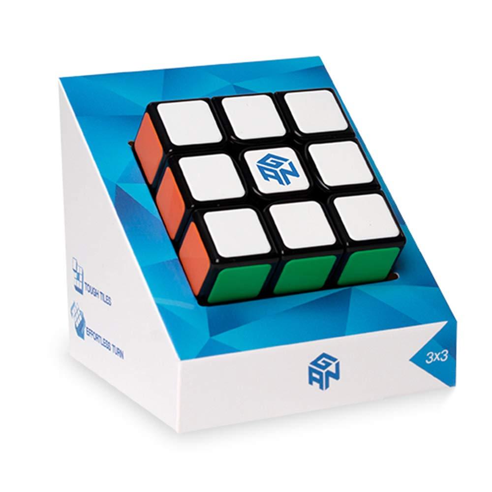 GAN Speed Cubing, GAN Speed Cube, 3x3, Tiled Scratch Proof Gans Magic Cube 3x3x3 Puzzle Toy Black (2020 GSC)