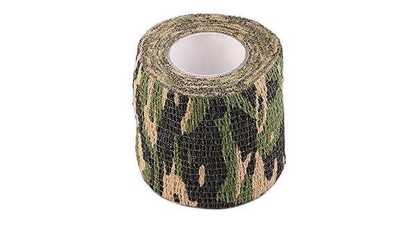 fghdf Caza Que acampa de Disparo Rollo Army Men Adhesivo Camuflaje Cinta Invisible Wrap