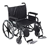 Drive Medical STD28DFA-ELR Deluxe Sentra Heavy Duty Extra-Extra-Wide Wheelchair, Black