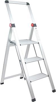 Brigros - Escalera plana para uso doméstico, escaleras de revolución de escaleras, de aluminio, superligera, ultra plana, fácil de almacenar y transportar, no ocupa espacio: Amazon.es: Bricolaje y herramientas