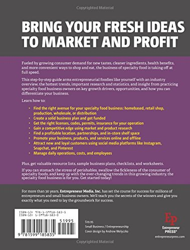 Start Your Own Specialty Food Business: Your Step-By-Step Startup ...