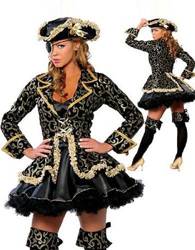 Black Lace Pirate Hat Costume Accessory (Pirate Queen Costume)
