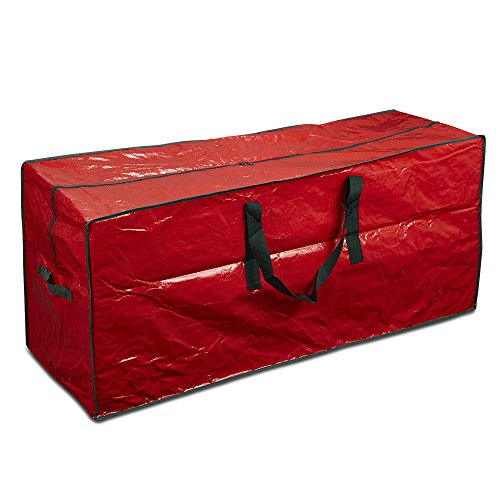 ProPik Artificial Tree Storage Bag Perfect Xmas Storage Container with Handles | 45 x 15 x 20 Holiday Tree Storage Case | with Sleek Zipper Perfect for Up to 7 Tall Disassembled Trees (Red)