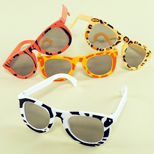 Safari Print Sunglasses - 12 per - Sunglasses Safari