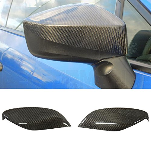 (Mirror Cover Fits 2012-2015 Scion FRS | Carbon Fiber (CF) Pair Side Mirror Cover Caps by IKON MOTORSPORTS | 2013 2014)