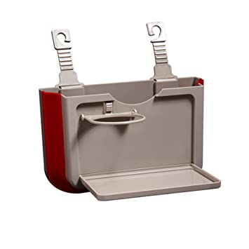 ... de Basura de Basura de coche Cubo de Basura Multifuncional Creativo Caja de Almacenamiento Colgante Plegable de Asiento de Coche con Portavasos
