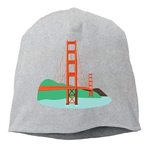 AUUOCC Headscarf Cool Bridge Hip-Hop Knitted Hat for Mens Womens Fashion Beanie Cap ()