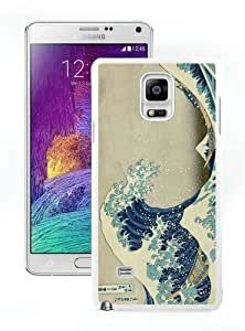 High Quality Samsung Galaxy Note 4 Case ,Cool And Fantastic Designed Case With Japanese Art The Great Wave off Kanagawa White Samsung Galaxy Note 4 Cover