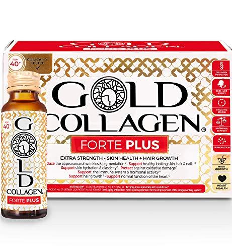 Gold Collagen Forte Plus | The Original #1 Liquid Collagen Anti Aging Beauty Supplement | Marine Collagen Drink with…