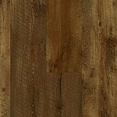 Armstrong Luxe Rigid Core Farmhouse Rugged Brown Vinyl Flooring A6415 SAMPLE