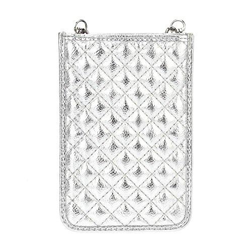 Cell Cross Women Q3 Silver Phone Body Bysummer Smartphone Mini Bags Purse for UwCnq6Bt