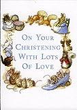 Beatrix Potter Christening Greeting Card Blue