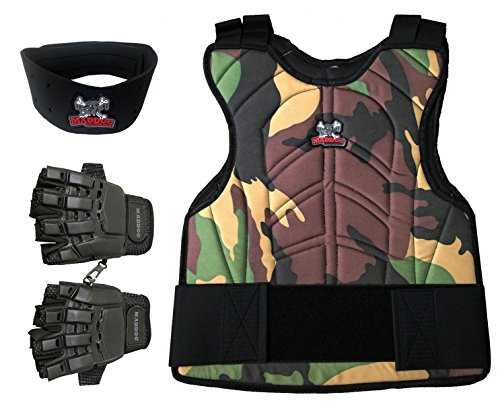 MAddog Padded Chest Protector Combo Package - Camo - Small/Medium (Paintball Youth Padding)