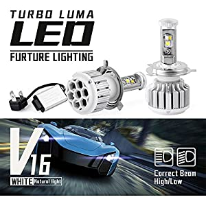 YITAMOTOR LED Headlight Bulbs H4 HB2 9003 High Low Beam Led Headlamp Kit 80w 8000Lm 6000K Replace for Halogen or HID Bulbs Cree Chips