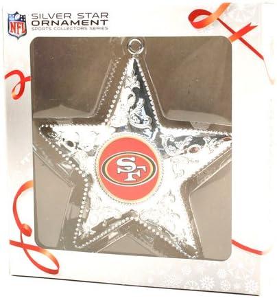 Topperscot San Francisco 49ers Silver Star Ornament