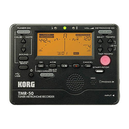Korg TM50BK Instrument Tuner and Metronome, (Folk Instrument Tuners)
