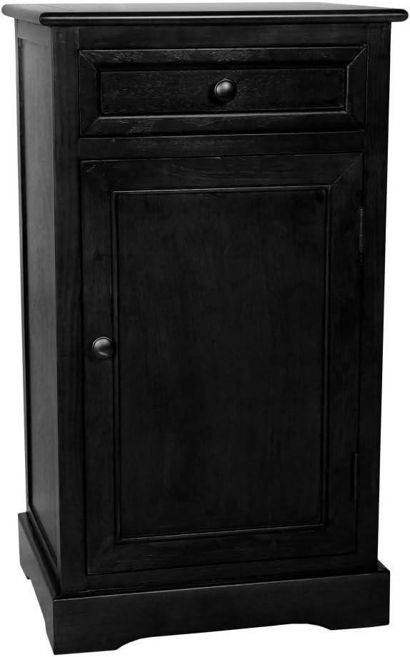 Oriental Furniture Classic Design Nightstand - Black