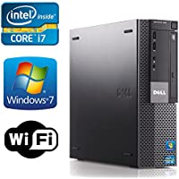 Dell Optiplex 990 Desktop- Intel i7 3.1GHz , *NEW* 1TB HDD + 250GB SSD, 16GB DDR3, Windows 7 Professional 64-bit, WiFi,USB 3.0 Refurb