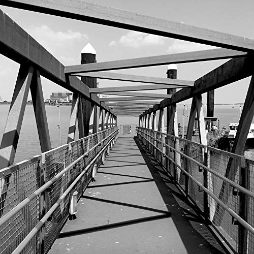 Bridge Photography, Tunnel Photography, Geometric Photo, River Thames, Geometry Photo, Bridge Print, Tunnel Print, Gravesend, England