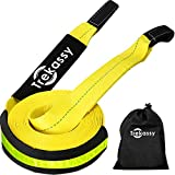 Trekassy Recovery Tow Strap Heavy Duty 35,000lb with Loops and Reflective Line for Offroad Race Car Truck Jeep 3