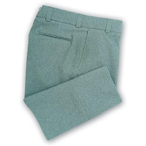 Dalco Men's Plate Umpire Baseball Pants Heather Grey Plain Front Unhemmed Premium (32)