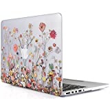 iDOO Soft Touch Plastic Hard Matte Case ONLY for MacBook Pro 13 inch with Retina Display NO CD Drive (A1425 / A1502) - Plants and Flowers
