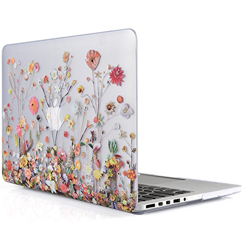 Flower Tree Display (iDOO Matte Rubber Coated Soft Touch Plastic Hard Case for MacBook Pro 13 inch Retina without CD Drive Model A1425 and A1502 - Plants and Flowers)
