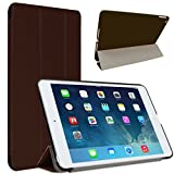 FlyStone iPad Mini Case - Super Slim Cover with Rubberized back and Smart Feature (Built-in magnet for sleep / wake feature) For Apple iPad Mini Tablet (Brown)
