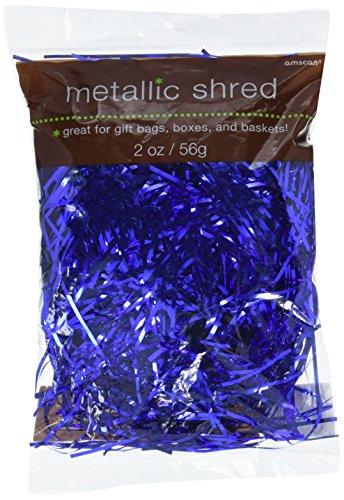 amscan Metallic Blue Shred -
