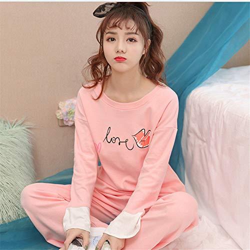 Carino Femminile Set Cardigan Service Home Autunno Pajamas Inverno A Cotone Thin Manica Ladies Lunga Zybnb Coreano qUYW6TnU