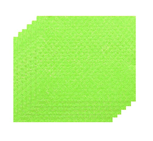 Jekayla Swedish Dishcloth Cellulose Sponge Cloth - 6 Pack of Reusable Cleaning Cloths, Scrubber and Scouring Pad, Green