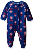 MLB Chicago Cubs Newborn Boys Sleepwear All Over Print Zip Up Coveralls, 3-6 Months, Deep Royal
