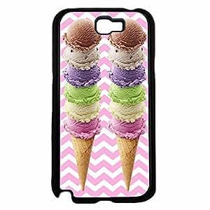 Ice Cream Cones TPU RUBBER SILICONE Phone Case Back Cover Samsung Galaxy Note II 2 N7100