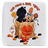 18 Inch 6-Sided Cube Ottoman Halloween Kitten Candy Pumpkin
