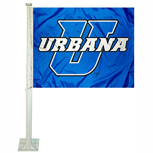 College Flags and Banners Co. Urbana Blue Knights Car Flag