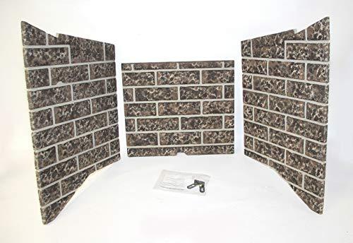 Kozy Heat Refractory brick lining panel set for Carlton 39 fireplace #39-I900 (Kozy Fireplace)