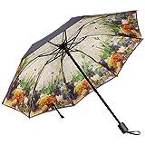 Mrsrui Mini Compact Sun&Rain Folding Travel Umbrella Outdoor Golf Umbrella (B)