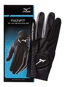 Mizuno RainFit Golf Gloves, Black, Small
