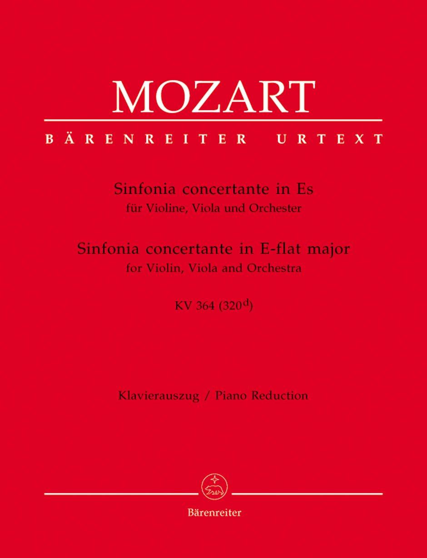 Sinfonia Concertante Für Violine Viola Und Orchester Es Dur KV 364  320d . Stimmen Urtextausgabe
