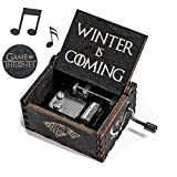 Cerekony Music Box for Game-Thrones Merchandise Collectibles - Main Theme Hand Crank Carved Dragon Action Figure Best Gift for GOT Fans - Black