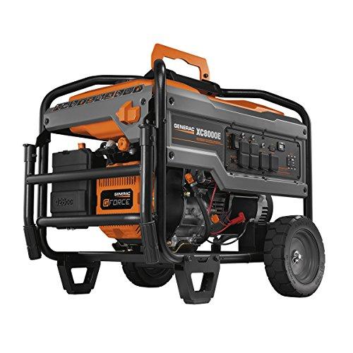 Generac 6826 XC8000E 8,000 Running Watts/10,000 Starting Watts Electric Start Gas Powered Portable Generator - CSA Compliant (Generac Generators 8000 Watt)