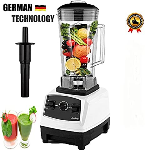 Electric Juice blender Juicer Fruit Food Ice Smoothie Bar Mixer NO.1 Quality GERMAN Technology Motor 3HP BPA professional smoothies power blender food mixer juicer processor By - Self Cleaning Stainless Steel Grill