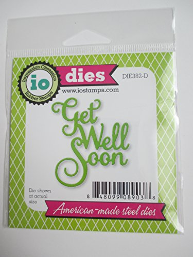Impression Obsession Get Well Soon Craft Die by Impression Obsession
