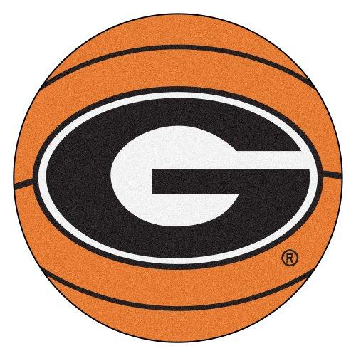 FANMATS NCAA University of Georgia Bulldogs Nylon Face Basketball (Georgia Bulldogs Basketball Rug)