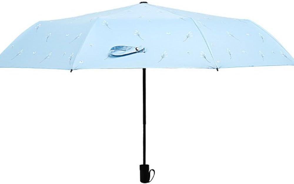 Paraguas del Práctica del Verano de LCC Sombrilla Uso Dual Femenino de la Protección del Sol Plástico Plegable plegadora plástica del UV