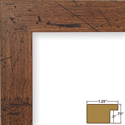 Craig Frames FM26WA1218C 1.26-Inch Wide Picture/Poster Frame in Smooth Grain Finish, 12 by 18-Inch, Dark Brown