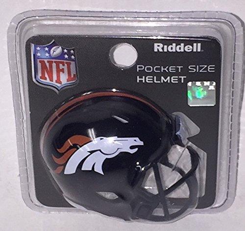 (Denver Broncos Riddell Speed Pocket Pro Football Helmet - New in package)