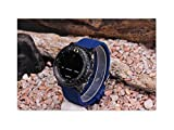 For SUUNTO CORE 24MM Blue Waterproof Silicone Strap Watch Band+Adapters +Buckle