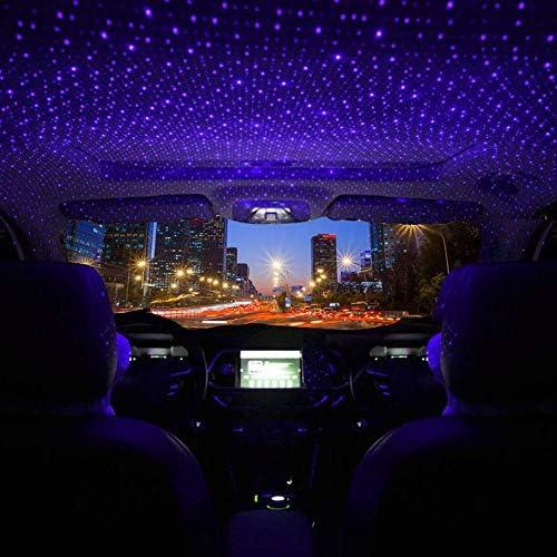 Hoteu Cool Auto Und Heimdeckenprojektor Atmosphäre Sternenhimmel Lampe Romantischer Usb Nachtatmosphären Dekorationslicht Lila Led Projektor Keine Fernbedienung Auto